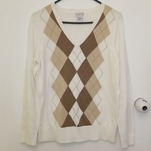 IZOD pull over 100%cotton Golf Sweater Size L